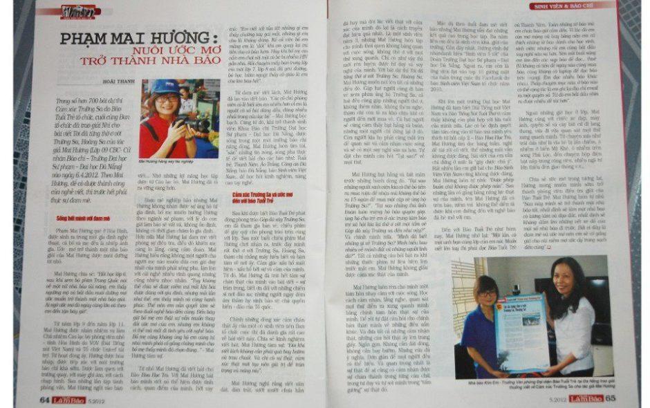 Tạp chí Người làm báo: Phạm Mai Hương – nuôi ước mơ trở thành nhà báo