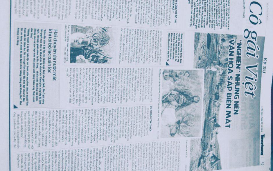 """me on TienphongNewspaper: Cô gái Việt """"nghiện"""" những nền văn hóa sắp biến mất"""