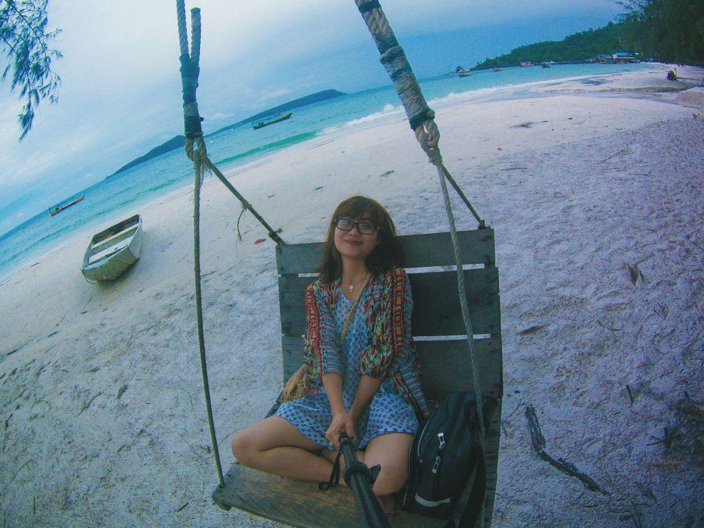 cảm thấy thư giãn ở Koh Rong. ahihi