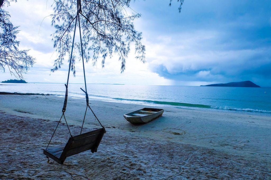 Một góc bình yên trên đảo.
