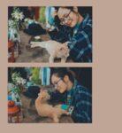Đây là Hương và chú mèo dam dang của Jang & Min nè.