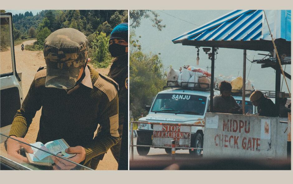 Binh sĩ hay cảnh sát Ấn gì đó đang kiểm tra passport của tuôi nè. Khu vực này rất nhạy cảm nên lúc chụp ảnh cảnh sát Ấn kiểm tra permit cũng chỉ dám chụp lén thoy.