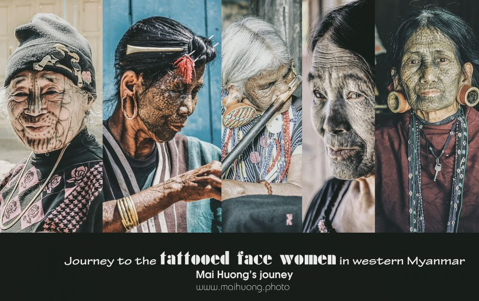 """Hành trình đến với tộc người """"mặt hổ"""" ở miền tây, Myanmar / Meet the last tattooed women of Burma"""