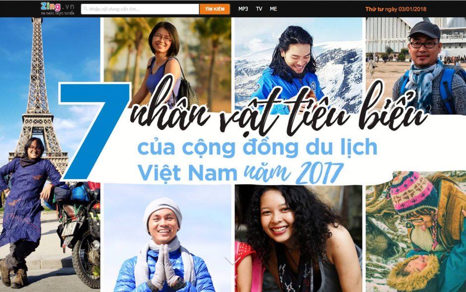 Zing: 7 gương mặt truyền cảm hứng cho cộng đồng du lịch Việt Nam 2017